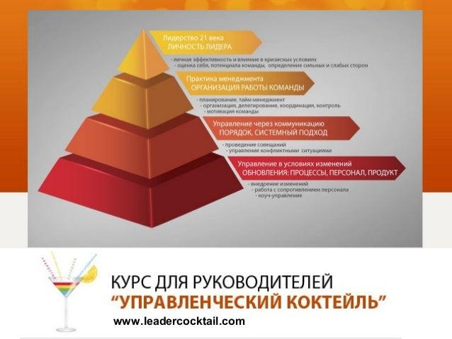"""""""УПРАВЛЕНЧЕСКИЙ КОКТЕЙЛЬ"""" курс для руководителей"""