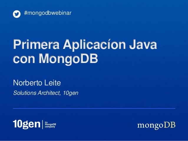 Webinar: Creación de su primera aplicación Java con MongoDB