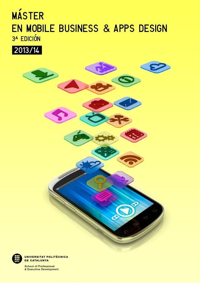 MÁSTEREN MOBILE BUSINESS & APPS DESIGN3ª EDICIÓN2013/14