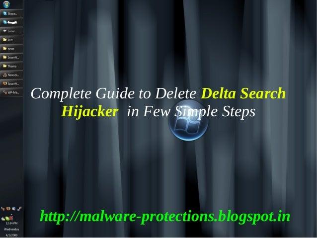 Delete Delta Search Hijacker : How to delete Delta Search Hijacker