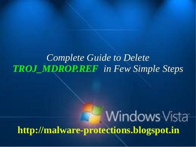 Delete TROJ_MDROP.REF : Complete Steps to delete TROJ_MDROP.REF