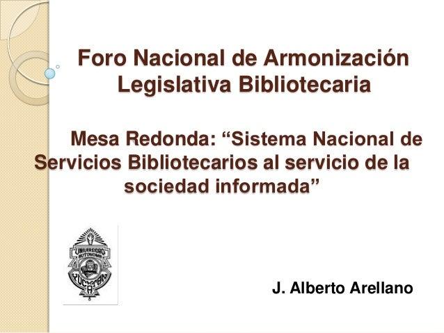 Sistema nacional de servicios bibliotecarios al servicio de la sociedad