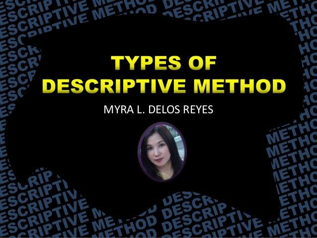 Research methodology descriptive method