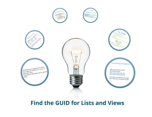 SharePoint Lesson #2:  How to get the GUID