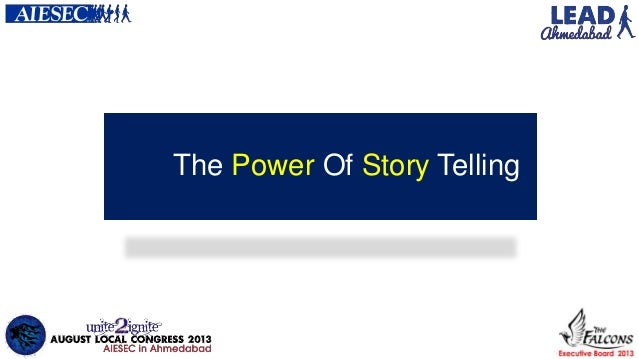 Lead-The power of story telling