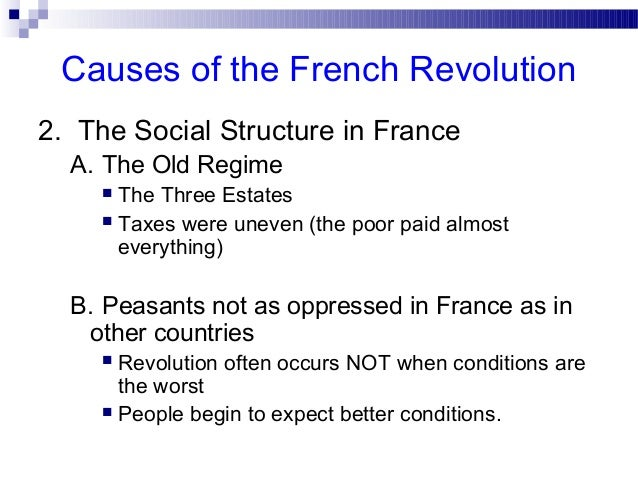 French revolution causes essay