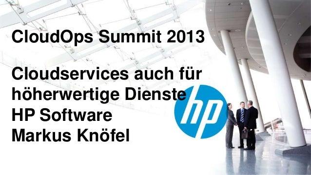 Alles as a Service? Live Demo: Cloud-Services auch für höherwertige Dienste