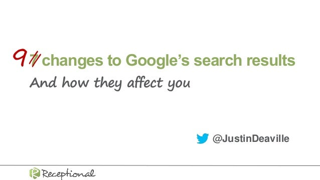 7 changes to Google's search results And how they affect you @JustinDeaville //9