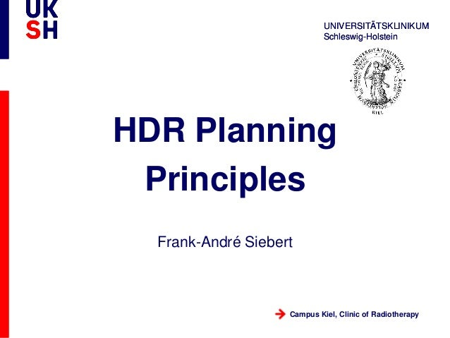 HDR planning principles for prostate brachytherapy