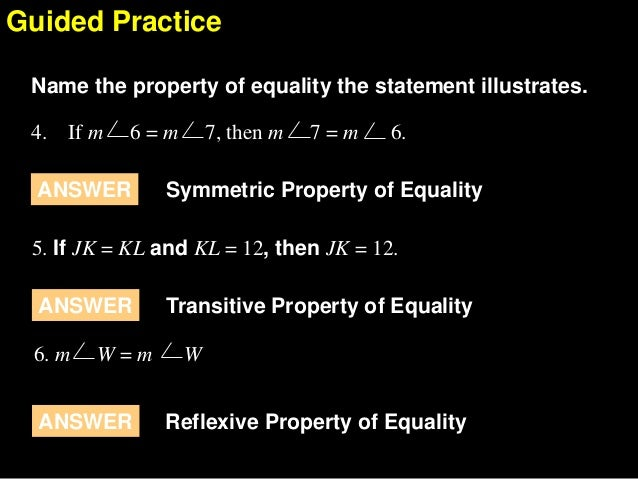 Pics For > Transitive Property Of Equality