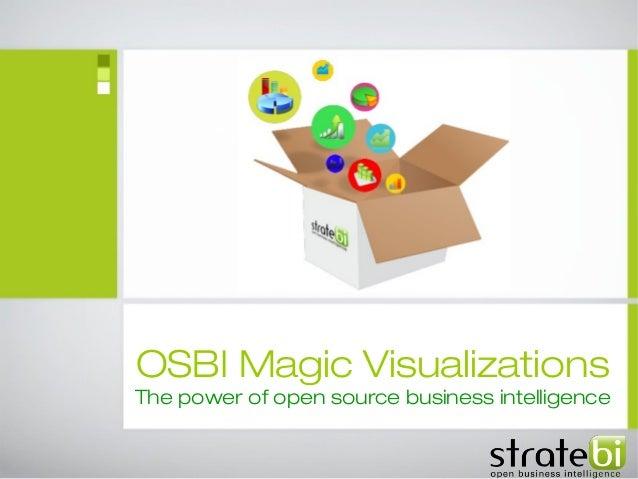 OSBI Magic Visualizations The power of open source business intelligence