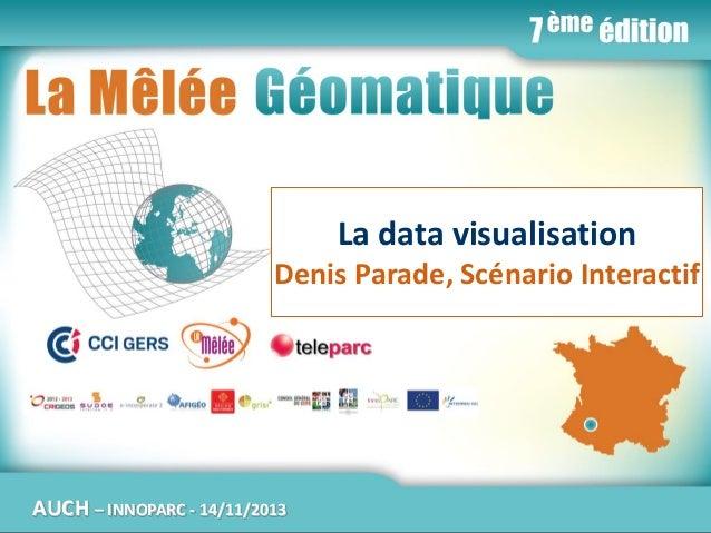 La Mêlée Géomatique  La data visualisation Denis Parade, Scénario Interactif  AUCH  Jeudi 14 novembre 2013 – Innoparc / CC...