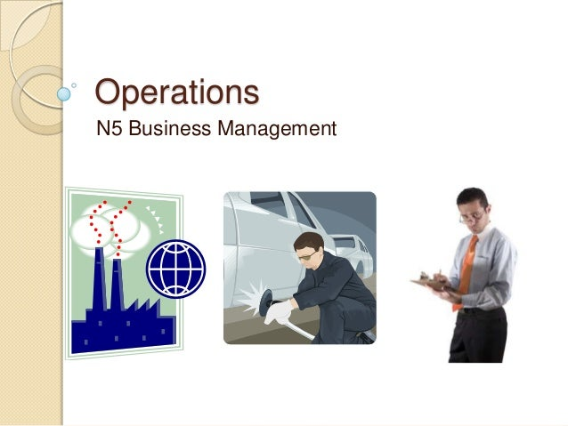 National 5 Business Management 2.2 Operations