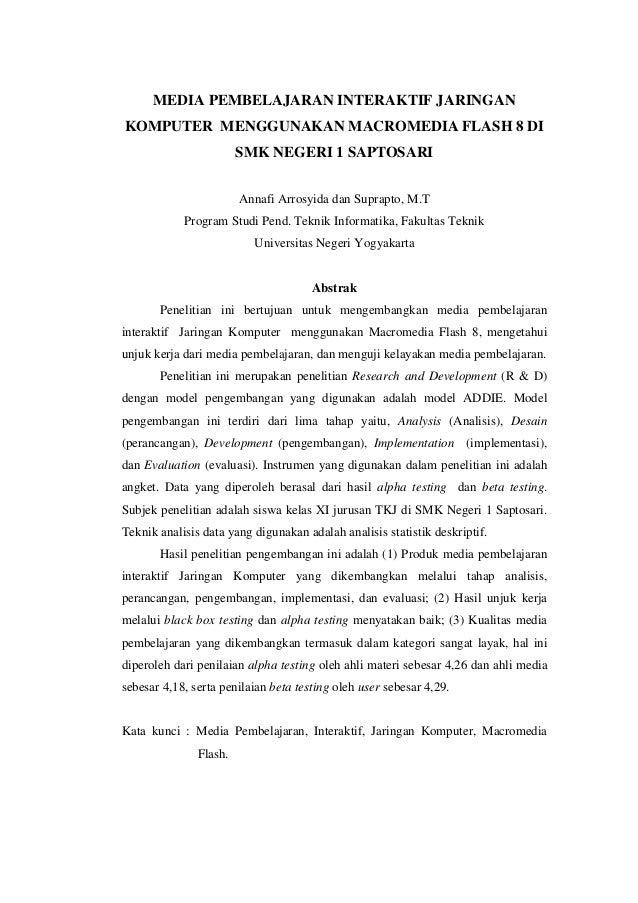 2. jurnal (media pembelajaran interaktif jaringan komputer)