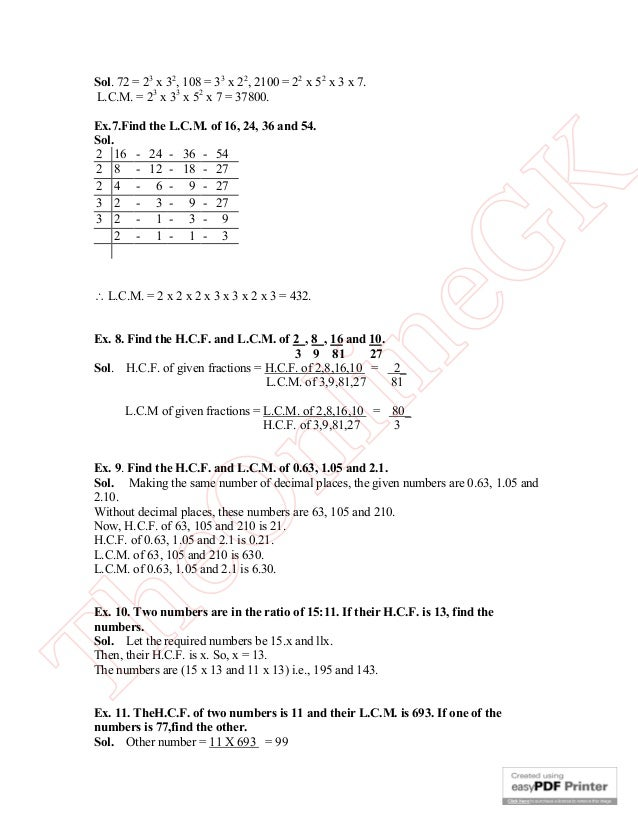 Problems On Hcf And Lcm Pdf