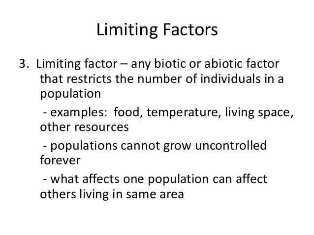 Pics For > Limiting Factors Examples