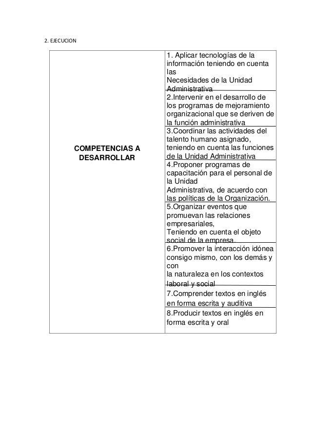 2. EJECUCION  COMPETENCIAS A DESARROLLAR  1. Aplicar tecnologías de la información teniendo en cuenta las Necesidades de l...