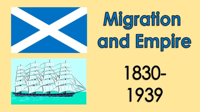 LEARNING INTENTIONS • Describe the economic impact that immigration had on Scotland