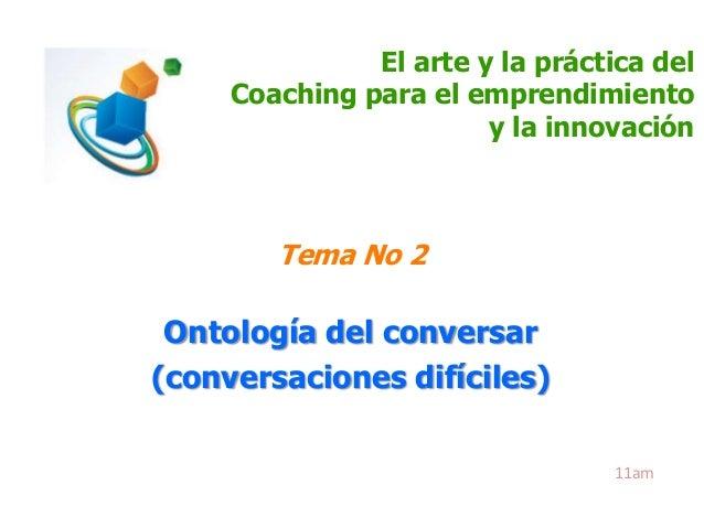 2.  ontología del conversar