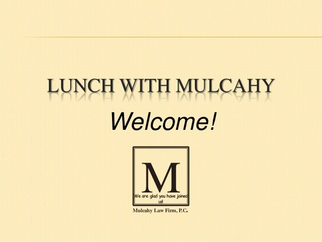 Lunch with Mulcahy: What are the Legal Ramifications of Board Inaction?
