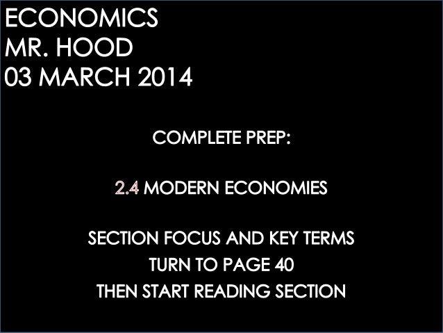 ECOGOV: 2.4 MODERN ECONOMIES