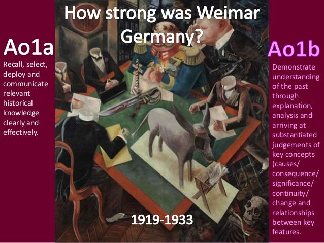 The Golden Age of Weimar Revision