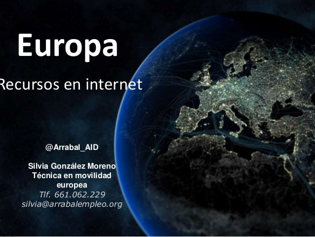 Programas de recursos de empleo en internet. Jornadas Por Europa