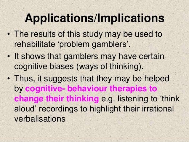 Griffiths gambling study ethics