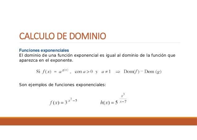 Funciones rango y dominio
