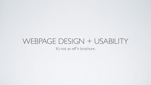 Understanding Web Design and Usability