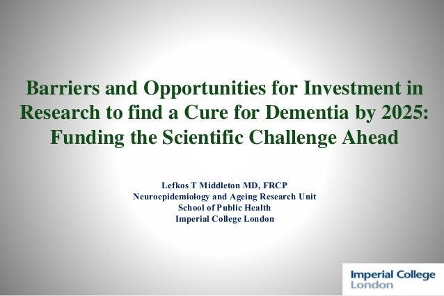 Global Dementia Legacy Event: Professor Lefkos Middleton