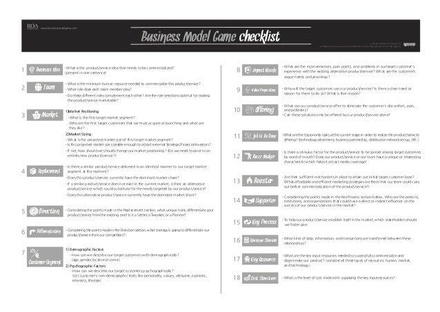 Business Idea  Team  Business Model Game checklist  www.businessmodelgame.com  본 저작물은 로아컨설팅의 지적재산권입니다.  본 저작물은 CCL(Creativ...