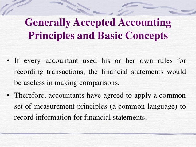 generally accepted accounting principles and subject Start studying unit 4: generally accepted accounting principles (gaap) learn vocabulary, terms, and more with flashcards, games, and other study tools.