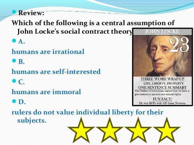social contract theory of john locke essay