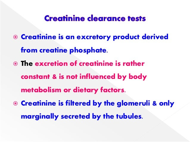 creatinine clearance test procedure pdf