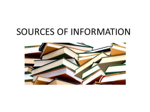 Research sources of information