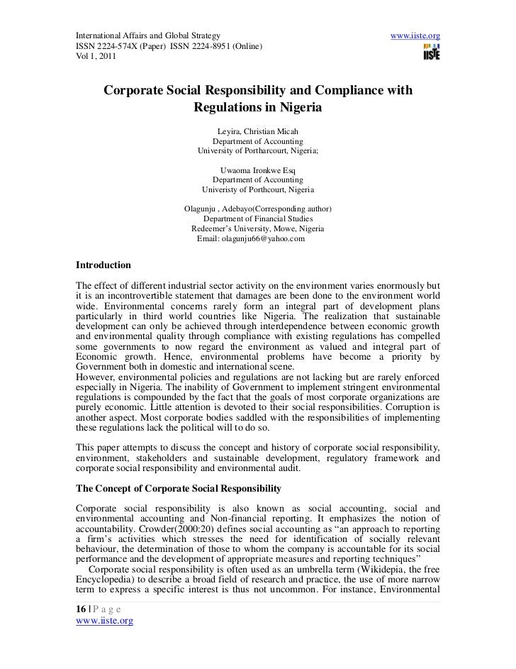 2.[16 23]corporate social respnsibility and compliance with regulations in nigeria