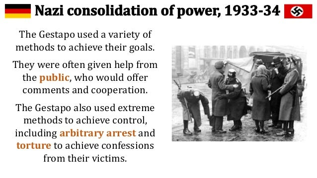 ss gestapo a tool of repression The ss and the gestapo were the instruments that hitler used  however, he  then spoke out against the persecution of jewish converts to christianity.