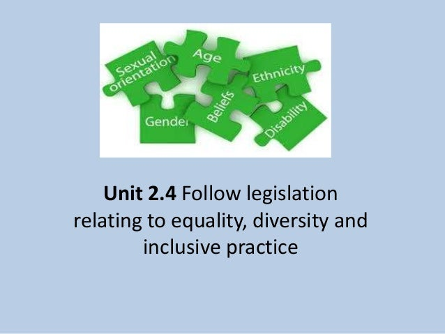 equality and diversity 2 units Self study unit: equality and diversity executive leadership and development programme 2 contents 02 introduction 05 section 1: a systemic approach to equality change for the sector and to strengthen the leadership and diversity 13 the qualifying programme has been developed using the section 2.