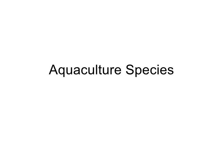 Aquaculture Species