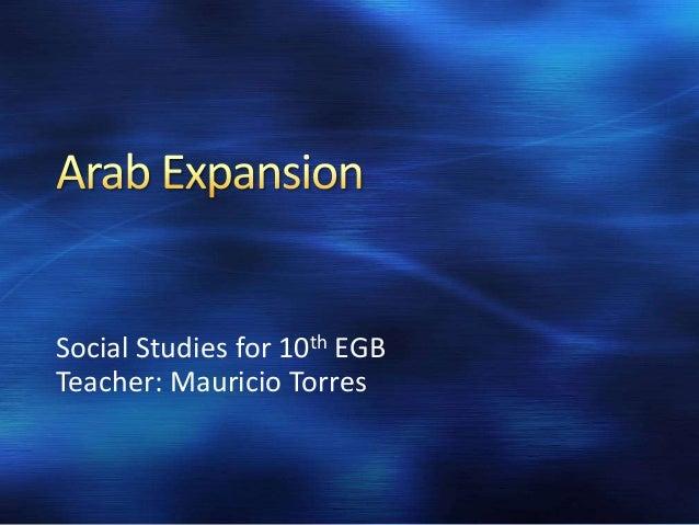 Social Studies for 10th EGB Teacher: Mauricio Torres