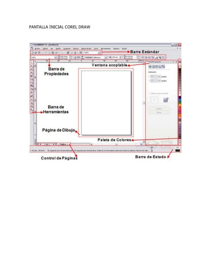 2.1 barras de herramientas  corel draw