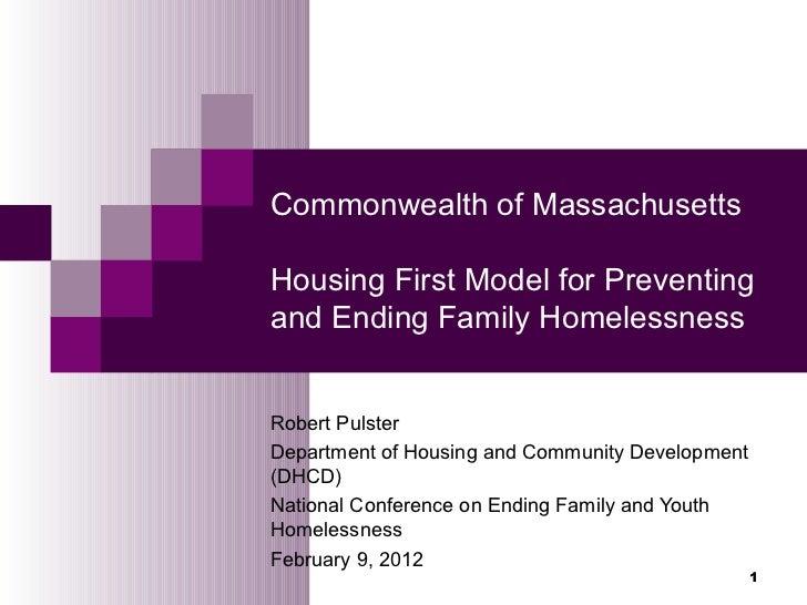 2.1 A Blueprint for Ending Family Homelessness