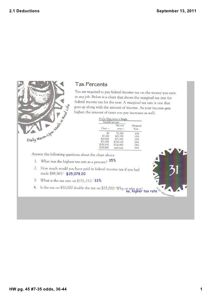 2.1Deductions                                                       September13,2011    Objective:calculatetotaldedu...