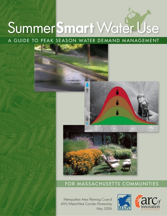 Summer Smart Water Use: A Guide to Peak Season Water Demand Management - Massachusetts