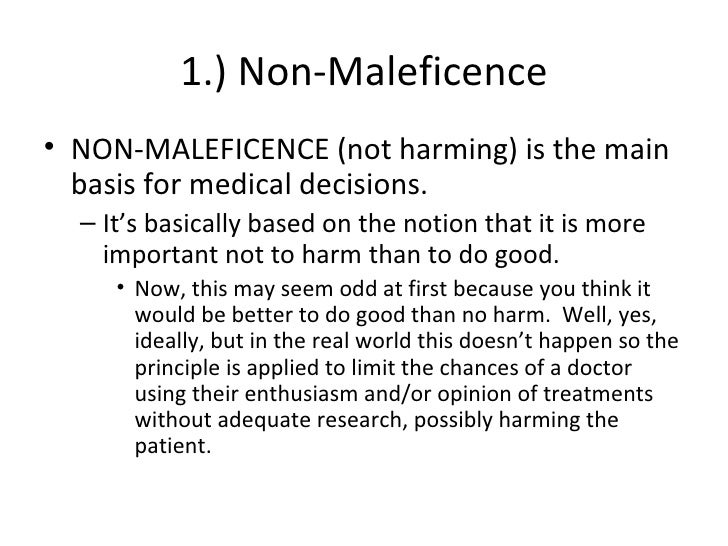 principles of beneficence and non maleficence essay