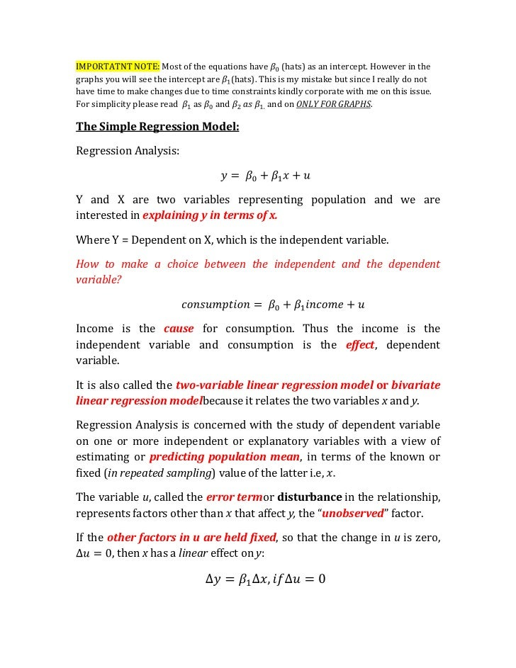 2.1 the simple regression model