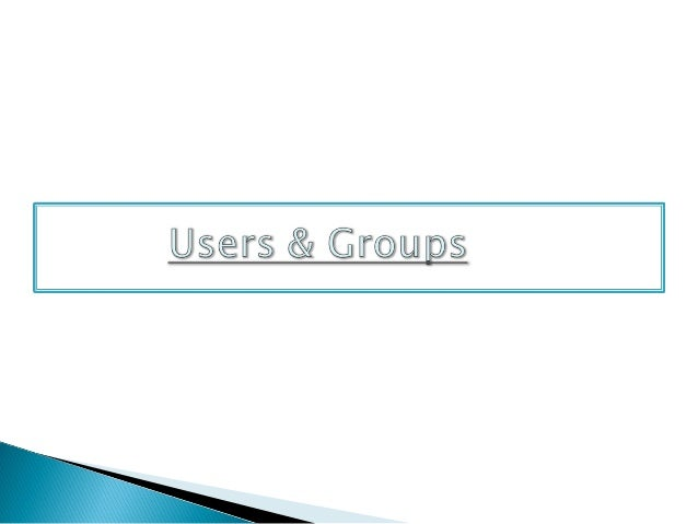    Create user objects to represent the employees, customers, or    students in your environment.   group :-          is...