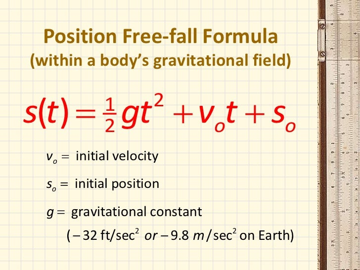free fall physics The only condition for free fall as you said is that the motion of the body should be only under the influence of gravity alone there should not be any effect of other forces like air resistance, viscous drag etc the condition depends on the property of the material under free fall for example, if the body has a.