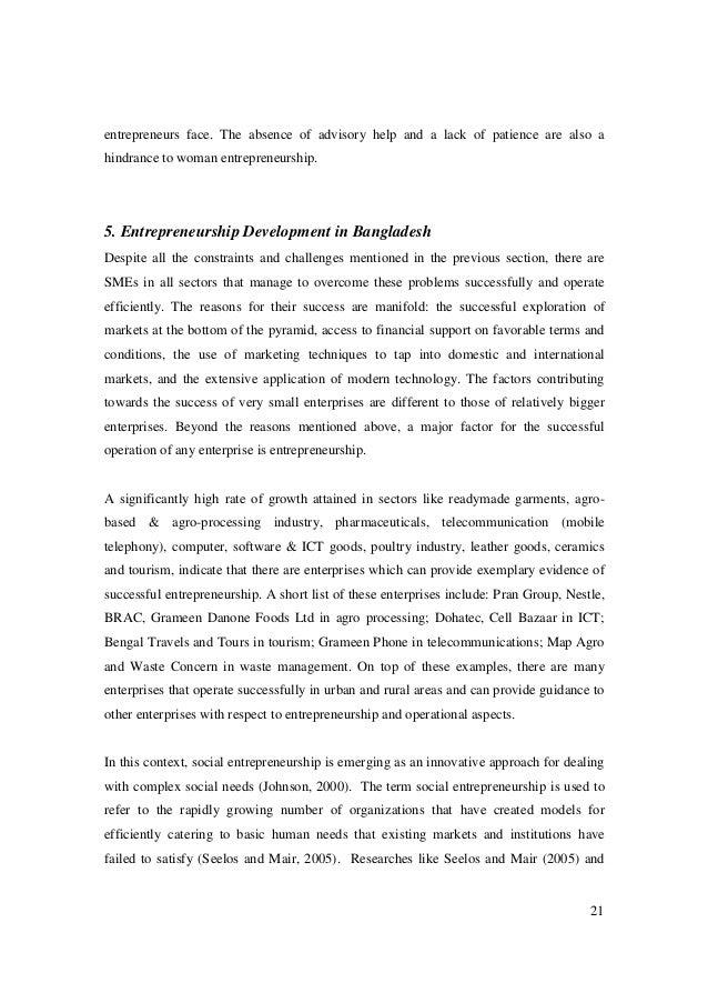 growth of women entreprenuership in bangladesh